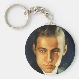 Rudolph Valentino Llavero Redondo Tipo Pin