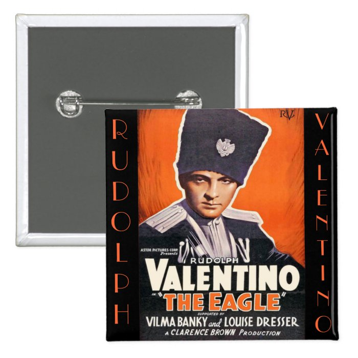 Rudolph Valentino Poster Button