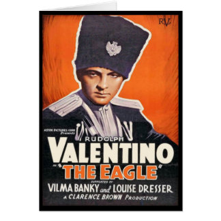 Rudolph Valentino Poster Greeting Card