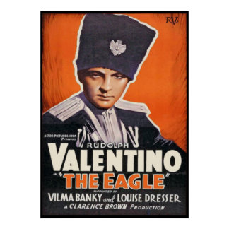 Rudolph Valentino Poster for 'The Eagle'