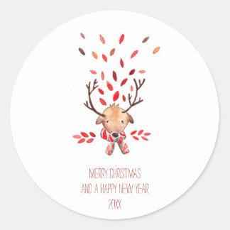 Rudolph wishes | custom wish classic round sticker