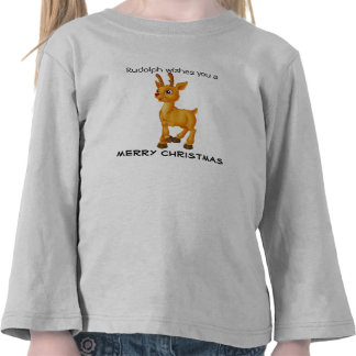 Rudolph wishes you a merry christmas t shirt