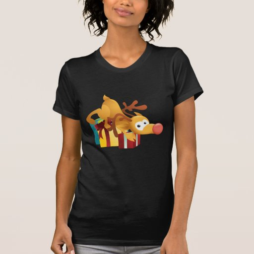 Rudolph With Xmas Presents Tee Shirt