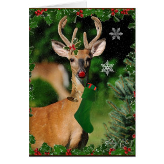 Rudolphs Christmas Wishes Card