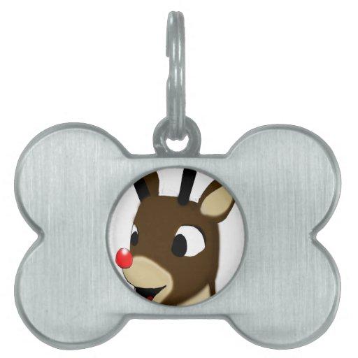 Rudulph el reno placa mascota