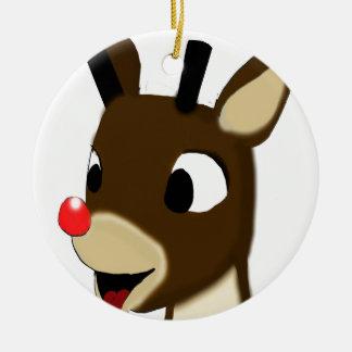 Rudulph the Reindeer Ceramic Ornament