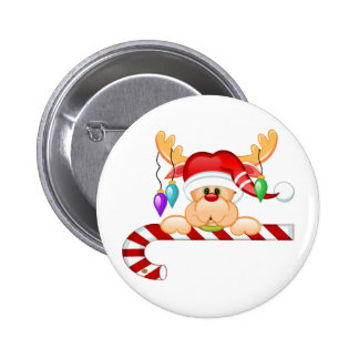 Rudy Candy Cane Button