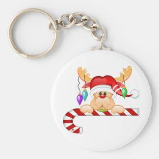 Rudy Candy Cane Keychain