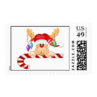 Rudy Candy Cane Stamp
