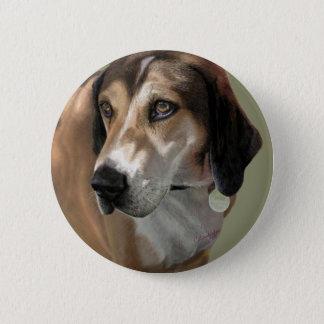 Rudy Catahula Walker hound hand painted digital Button
