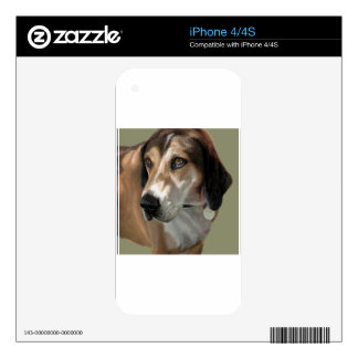 Rudy Catahula Walker hound hand painted digital Skin For iPhone 4