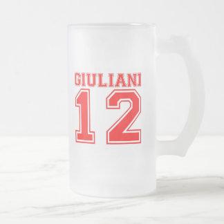 Rudy Giuliani 2012 16 Oz Frosted Glass Beer Mug