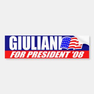 Rudy Giuliani For President 2008 Bumper Sticker