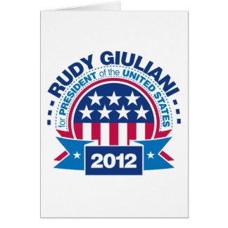 Rudy Giuliani for President 2012 Card
