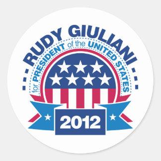 Rudy Giuliani for President 2012 Classic Round Sticker
