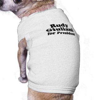 Rudy Giuliani for President Pet Tshirt