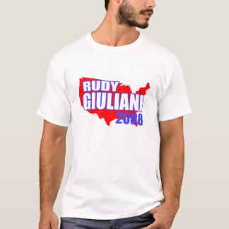 Rudy Giuliani Red America 2008 T-shirt