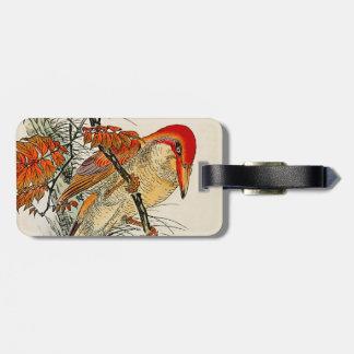 Rudy Kingfisher and Wax Tree Luggage Tag
