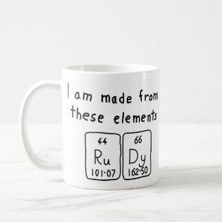 Rudy periodic table name mug