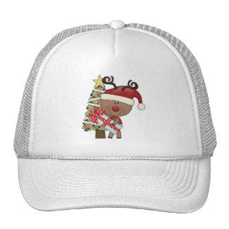 Rudy Reindeer Holiday Tree Hats