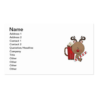 Rudy Reindeer With Cocoa Double-Sided Standard Business Cards (Pack Of 100)