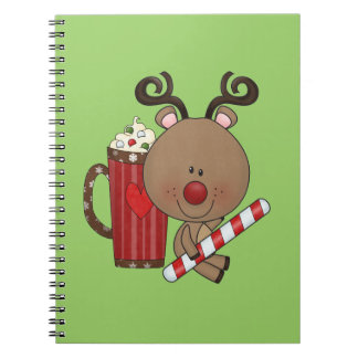 Rudy Reindeer With Cocoa Notebook