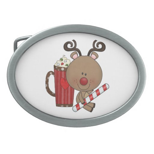 Rudy Reindeer With Cocoa Oval Belt Buckles