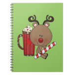 Rudy Reindeer With Cocoa Spiral Notebook