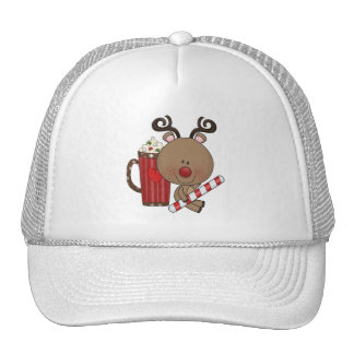 Rudy Reindeer With Cocoa Trucker Hat