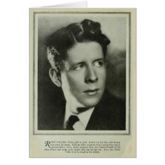 Rudy Vallee 1929 vintage portrait card