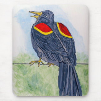 Rudy Waxwing Mouse Pad