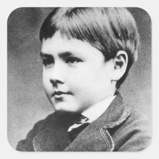 Rudyard Kipling, c.1870 Square Sticker
