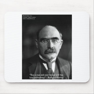 """Rudyard Kipling """"Puppy Love"""" Quote Gifts Tees Etc Mouse Pad"""