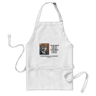 Rudyard Kipling Strength Of the Pack Wolf Quote Aprons