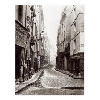 Rue Aumaire from the Rue Volta Paris 1858-78 Postcard