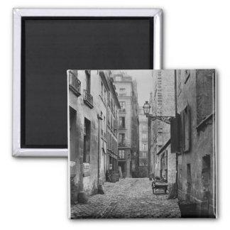 Rue Basse des Ursins, Paris, 1858-78 2 Inch Square Magnet