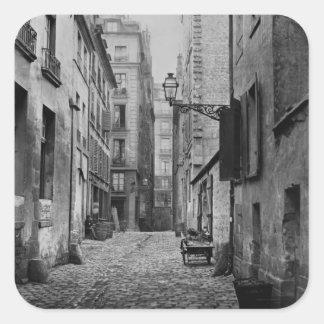 Rue Basse des Ursins, Paris, 1858-78 Square Sticker