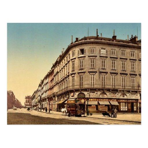 Rue Chapeau Rouge, from the Place Richelieu, Borde Postcard