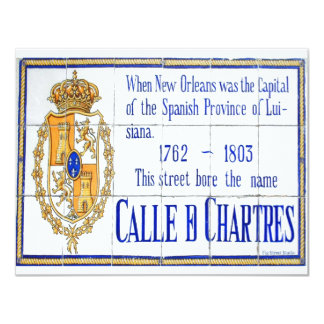 Rue Chartres Tile Mural Card
