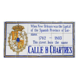 Rue Chartres Tile Mural New Orleans Posters