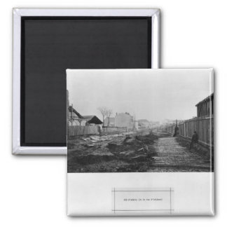 Rue d'Alesia, from rue d'Orleans, Paris, 1858-78 2 Inch Square Magnet