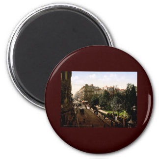 Rue d'Alsace-Lorraine Toulouse France 2 Inch Round Magnet