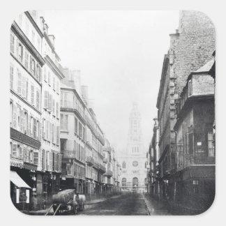 Rue de la Chaussee-d'Antin, Paris, 1858-78 Square Sticker