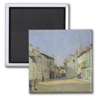 Rue de la Chaussee en Argenteuil, 1872 Imán Cuadrado