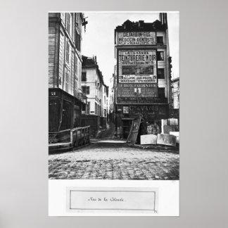 Rue de la Colombe, Paris, 1858-78 Poster
