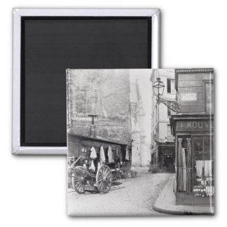 Rue de la Montagne Sainte-Genevieve 2 Inch Square Magnet