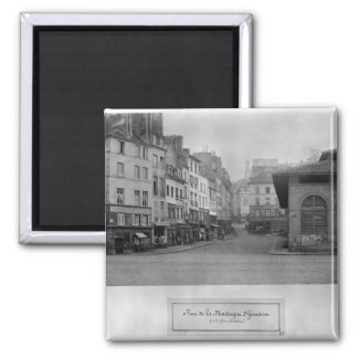 Rue de la Montagne Sainte-Genevieve, Paris 2 Inch Square Magnet