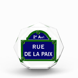 Rue de la Paix, Paris Street Sign Awards