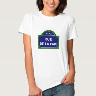 Rue de la Paix, Paris Street Sign T Shirts