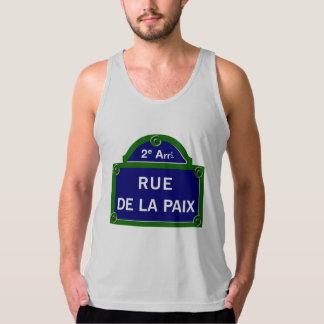 Rue de la Paix, Paris Street Sign Tank Top